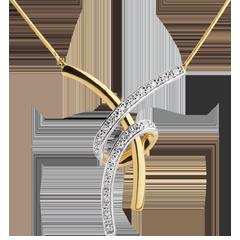 Collier Volupté pavé - 20 diamants - or blanc et or jaune 18 carats