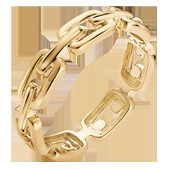Orient Gaze Ring - Cuban Link Medium - yellow gold 9 carats