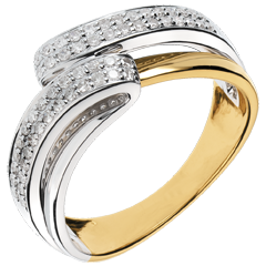 Bague Serenity or jaune - 0.28 carats - 56 diamants
