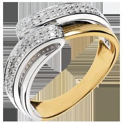 Anello Serenity oro giallo - 0.28 carati - 56 diamanti