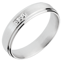 Ring Goldnugget aus Weissgold
