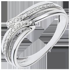 Anello Serenity oro bianco - 6 diamanti