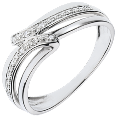 Anillo Serenity oro blanco - 6 diamantes