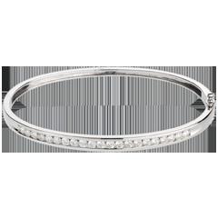 Junco Constelación - Astral - 1 hilera de diamantes - oro blanco 18 quilates - 21 diamantes 1. 24 quilates