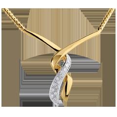 Collar beso de leopardo - oro amarillo empedrado 18 quilates - 13 diamantes
