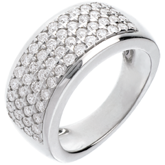 Bague Constellation - Astrale - grand modèle - or blanc - 1.01 carats - 56 diamants