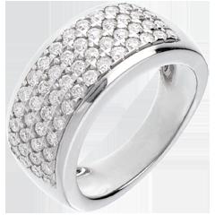 Anello Costellazione - Astrale - modello grande - oro bianco - 1.01. carati - 56 diamanti