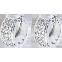 Orecchini Costellazione - Astrale - modello grande - oro bianco lastricato - 0.43 carati - 54 diamanti