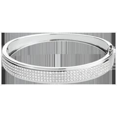 Junco Constelación - Astral - 4 hileras de diamantes - oro blanco 18 quilates - 180 diamantes 1. 62 quilates