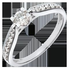 Bague de Fiançailles  Solitaire Comtesse - diamant 0.18 carat