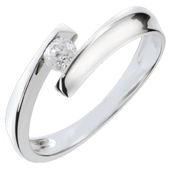 Solitaire Nid Précieux - Orphée - or blanc - 18 carats