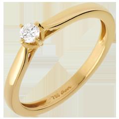 Solitario Portamento oro giallo - diamante 0.11 carati