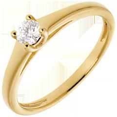 L'essentiel d'un solitaire or jaune  - 0.19 carat