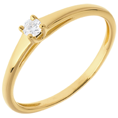 L'essentiel d'un solitaire or jaune  - 0.08 carat