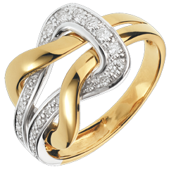 Bague Amour Eternel - or blanc et or jaune 18 carats