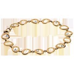 Pendant bracelet yellow gold - 8 diamonds
