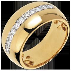 Anello Fantasmagoria - Bagliore Solare - oro giallo - 11 diamanti - 0.37 carati