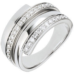 Bague Baltique or blanc - 0.45 carats - 30 diamants