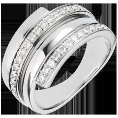 Anello Baltico oro bianco - 0.45 carati - 30 diamanti