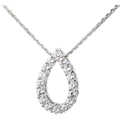 Collier Caprice or blanc   - 1.05 carats - 16 diamants
