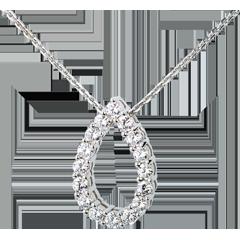 Collar capricho oro blanco   - 1.05 quilates - 16 diamantes