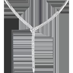 Collier queue du guépard - or blanc 18 carats