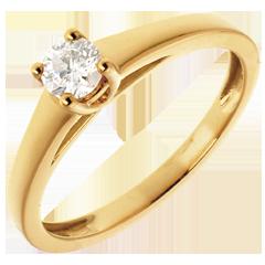 L'essentiel d'un solitaire or jaune - 0.25 carat