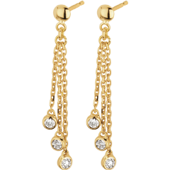Boucles d'oreilles pendants cascade or jaune