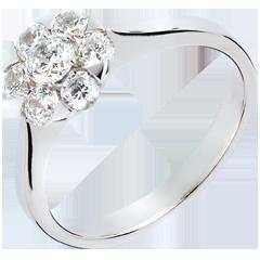 Anello Freschezza - Magnolia - oro bianco - 0.88 carati - 7 diamanti