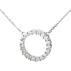 Collier Firmament or blanc  - 0.75 carats - 19 diamants