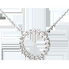 Collar firmamento oro blanco  - 0.75 quilates - 19 diamantes