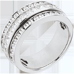Anello Fantasmagoria - Via Lattea - oro bianco lastricato - 1.46 carati - 43 diamanti