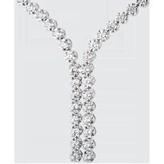 Collier Liaison diamants - 2.4 carats - 76 diamants - or blanc 18 carats