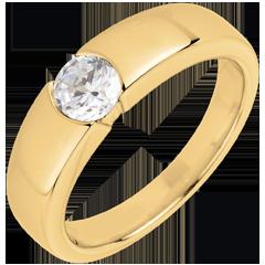 Bague sur mesure 30271 - solitaire diamant 0.5 carat