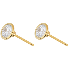 Diamantohrringe Puppe in Gelbgold