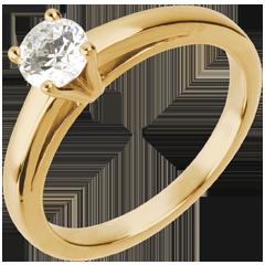 Bague sur mesure 30220 - solitaire diamant 0.5 carat