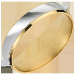 Sortija Dandy oro amarillo-oro blanco