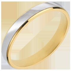 Anneau Dandy or jaune-or blanc - 3mm