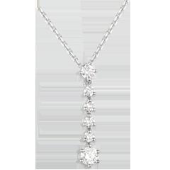 Collier Flocons or blanc et diamants