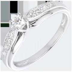 Anillo Solitario diamante Selmi oro blanco