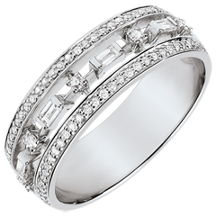 خاتم ديستيني ـ الإمبراطورة الصغيرة ـ 71 ماسة ـ الذهب الأبيض 18 قيراط