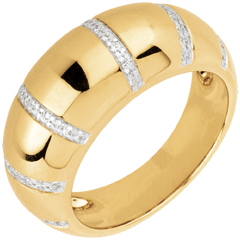bague Gaya or jaune et diamants