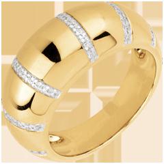 Anello Gaia oro giallo e diamanti