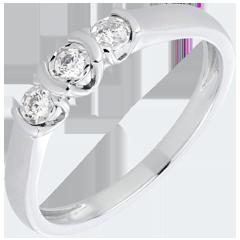 Anillo Triología paréntesis oro blanco y diamantes