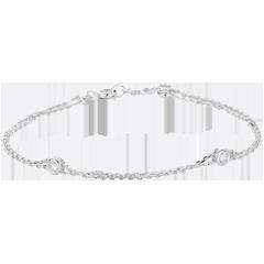 Bracelet Zodiaque or blanc et diamants