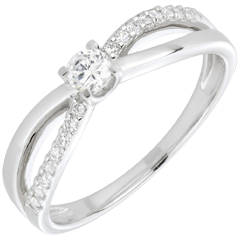 Anillo de compromiso Destino - Eternidad - oro blanco - 18 quilates