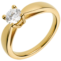 Bague sur mesure 30046 - solitaire diamant 0.7 carat