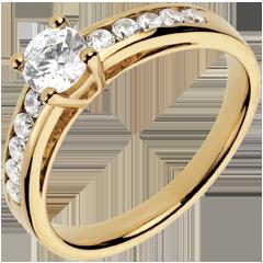 Bague sur mesure 30071 - solitaire diamant 0.5 carat