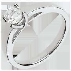 Bague sur mesure 30091 - solitaire diamant 0.5 carat