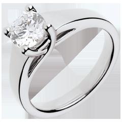 Anello su misura 30093 - Solitario oro bianco - diamante 1 carato